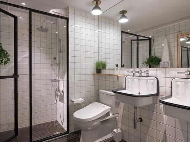 ห้องน้ำทูโทนสีดำ-ขาว