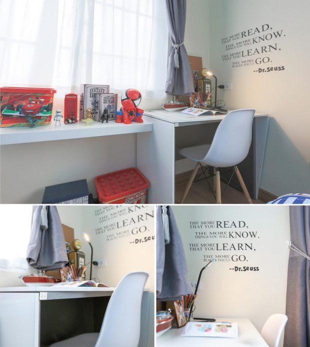 มุมทำการบ้านอ่านหนังสือโดย SB Furniture