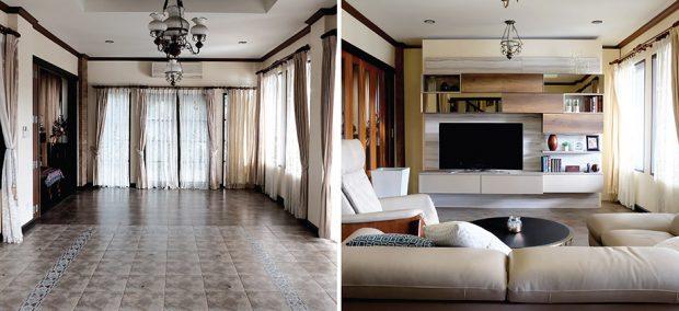 Before-After ตกแต่งห้องนั่งเล่น