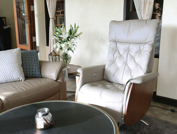 เก้าอี้พักผ่อนหนังแท้ รุ่น Canura