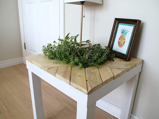 D.I.Y โต๊ะเก่าเป็นกระถางปลูกต้นไม้