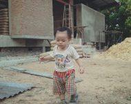ระหว่างการก่อสร้างบ้าน