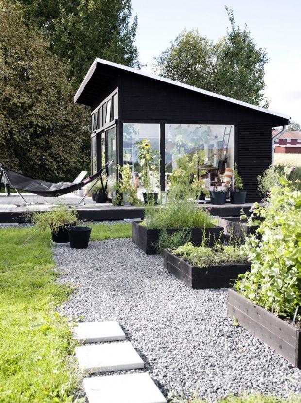 บ้านกลางสวนปลูกผักไว้ข้างใน