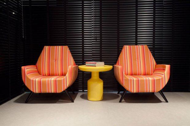 เก้าอี้โมเดิร์นสีส้ม