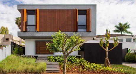 บ้านโมเดิร์นคอนกรีตฟาซาดไม้