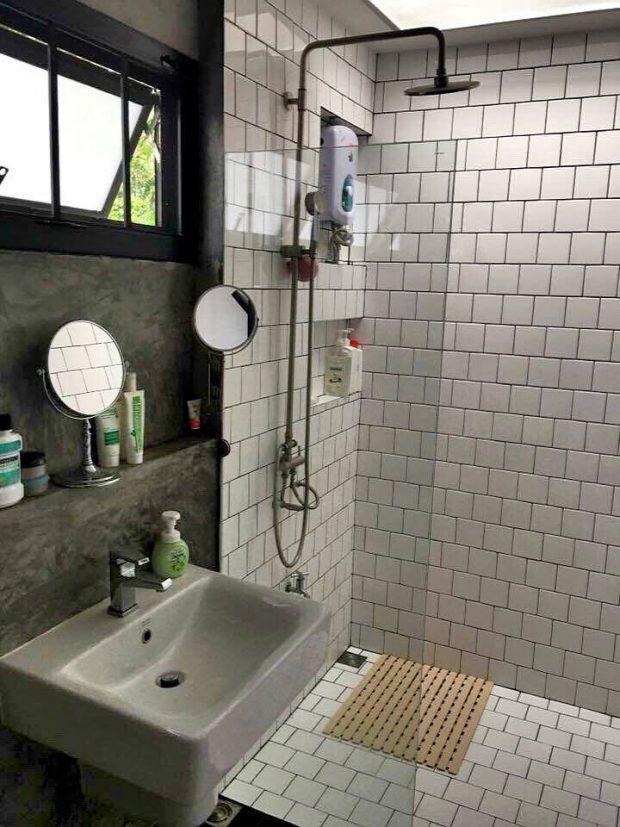 ห้องอาบน้ำสไตล์โมเดิร์นลอฟท์