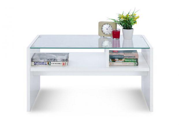 โต๊ะกลางสีขาว
