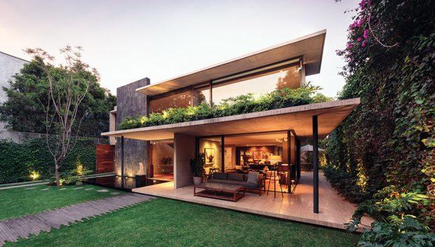 บ้านปูนเปลือยมี Rooftop garden