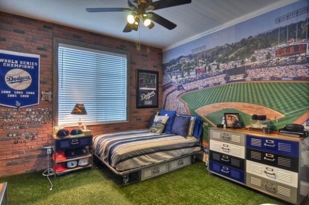 แต่งห้องนอนด้วยหญ้าเทียม