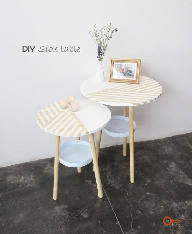 โต๊ะข้างทำจากถังขนาด 5 แกลลอน