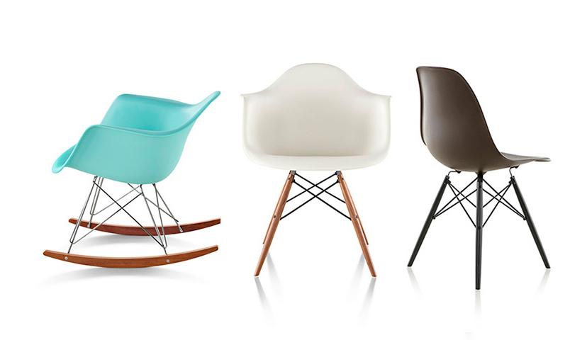 เก้าอี้พลาสติกสไตล์ mid century modern