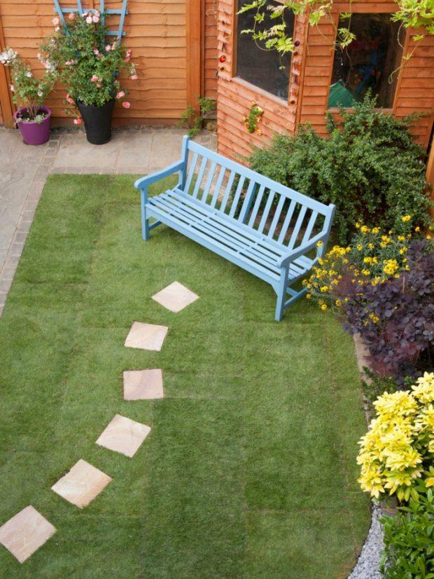 ตกแต่งสวนด้วยหญ้าเทียม