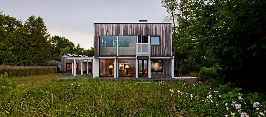 บ้านโมเดิร์นผนังไม้