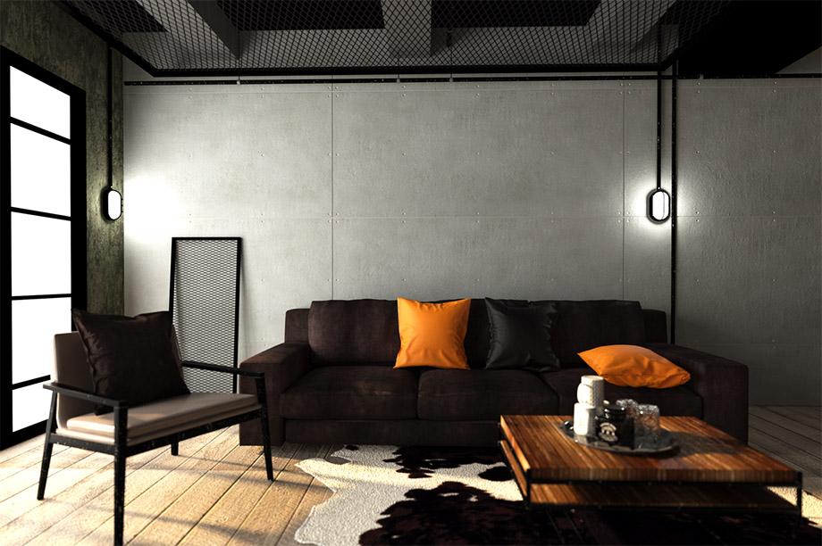 ห้องนั่งเล่น-Loft-Style-SCG-Cement-Board