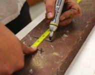 วัดไม้เตรียมตัดส่วนล่างกล่อง