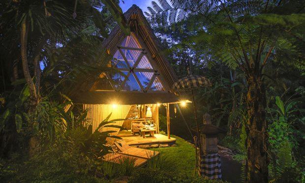 บ้านไม้ไผ่ที่เรียบง่าย