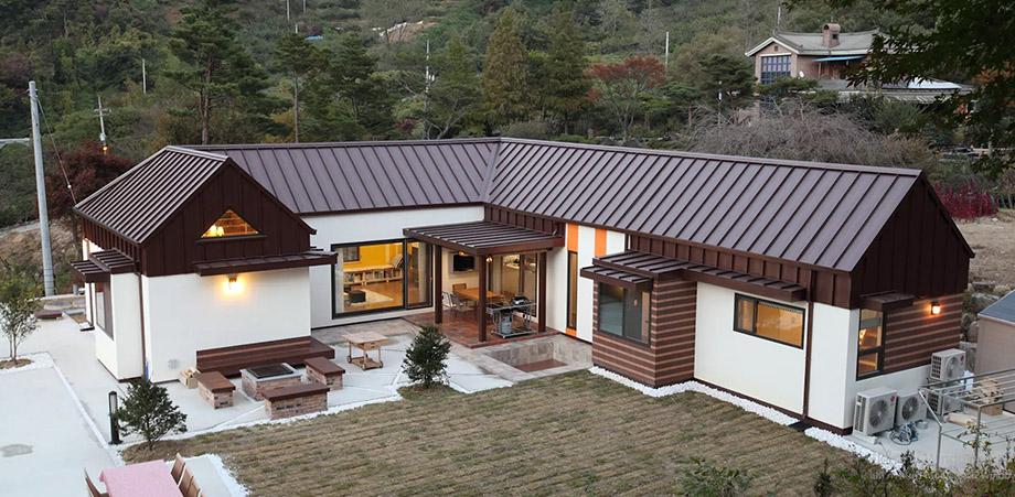 บ้านโมเดิร์นเกาหลีรูปตัว C
