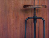 เก้าอี้เหล็กท็อปไม้