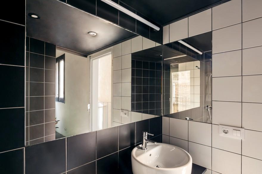 ตกแต่งห้องน้ำทูโทนขาวดำ