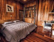 ตกแต่งห้องนอนด้วยงานไม้