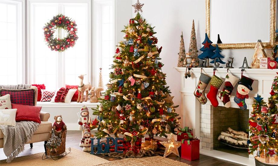ต้นคริสต์มาสประดับบ้าน