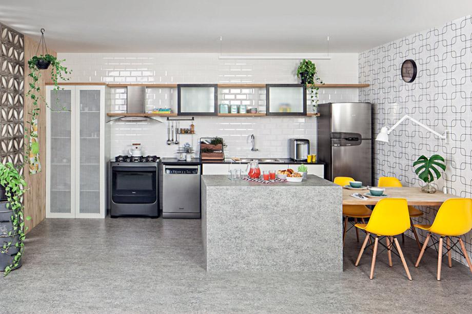 ห้องครัวโทนสีเทาขาว