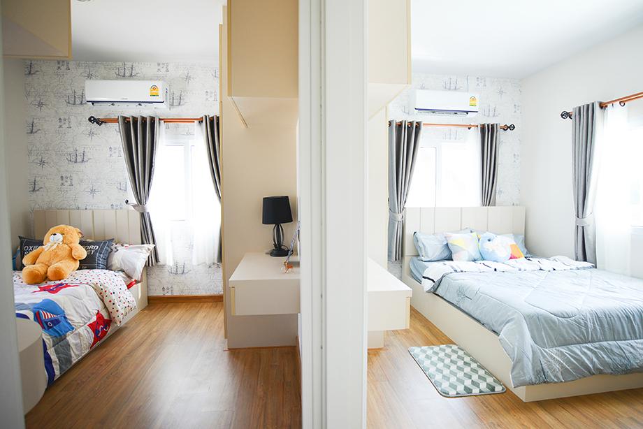 ห้องนอนเล็กในบ้านแบบ smart