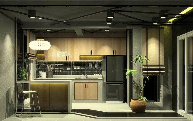 ครัวแบบขนาน Gallery kitchen