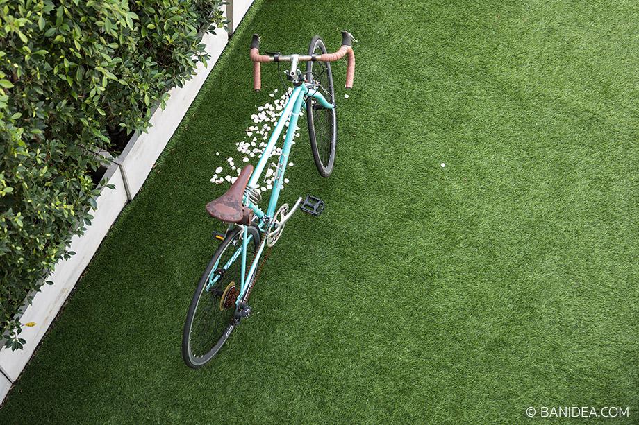 หญ้าเทียม ปูหน้าบ้าน