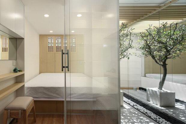 พาร์ทิชั่นโปร่งแสงกั้นห้องนอน
