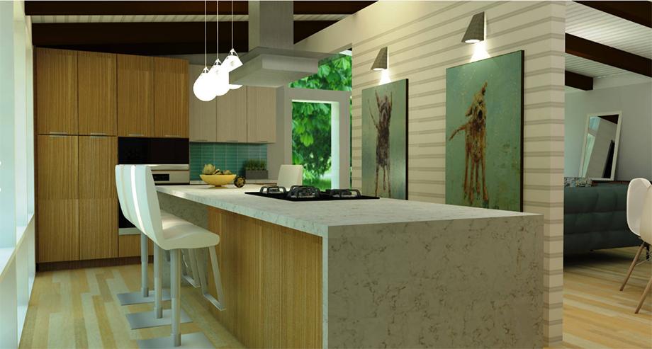 ภาพ 3D ออกแบบปรับปรุงครัว