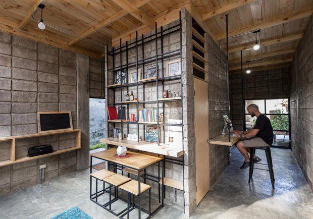 สร้างบ้านด้วยคอนกรีต เหล็ก ไม้