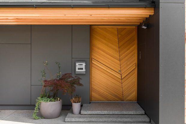 ประตูไม้ดีไซน์โมเดิร์น