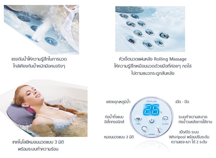 อ่างอาบน้ำ Karess-Massage-System-Bath