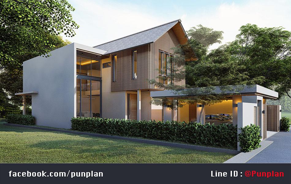สถาปนิกออกแบบบ้าน หน้าแคบ 10 เมตร