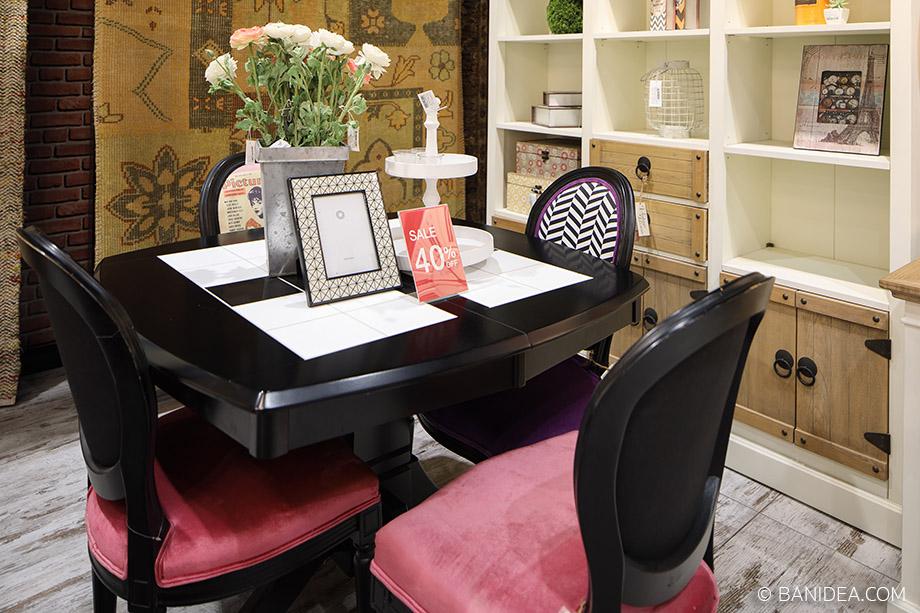 โต๊ะทานอาหาร สีดำ