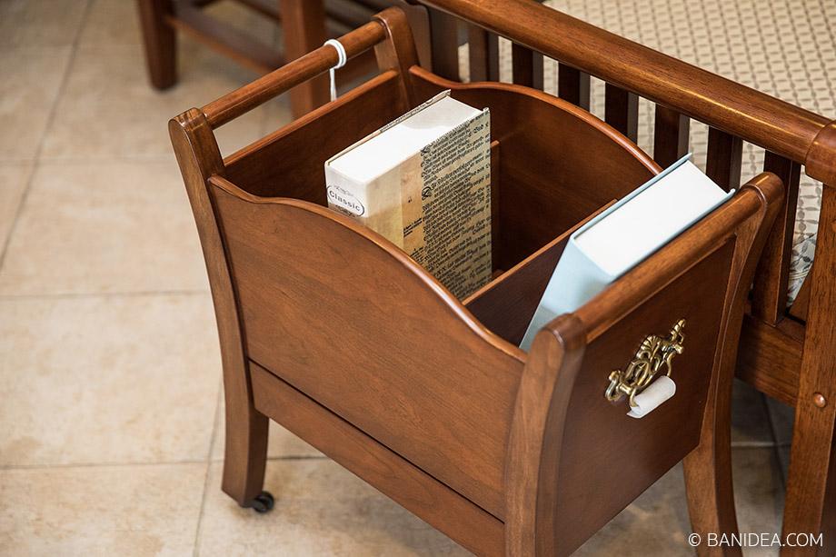 กล่องเก็บหนังสือ ทำจากไม้จริง
