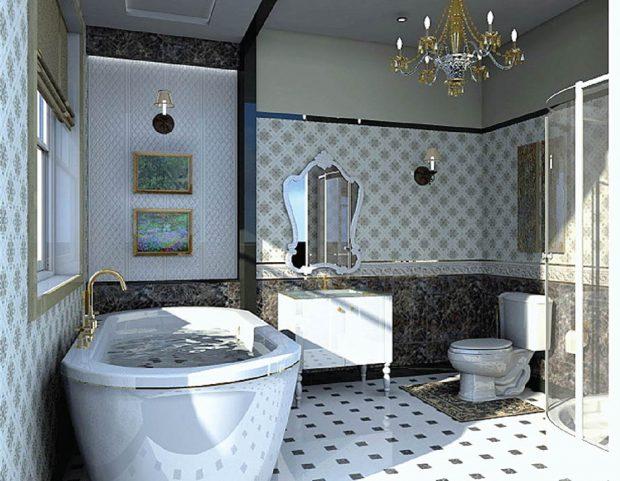 ห้องน้ำสไตล์ vintage