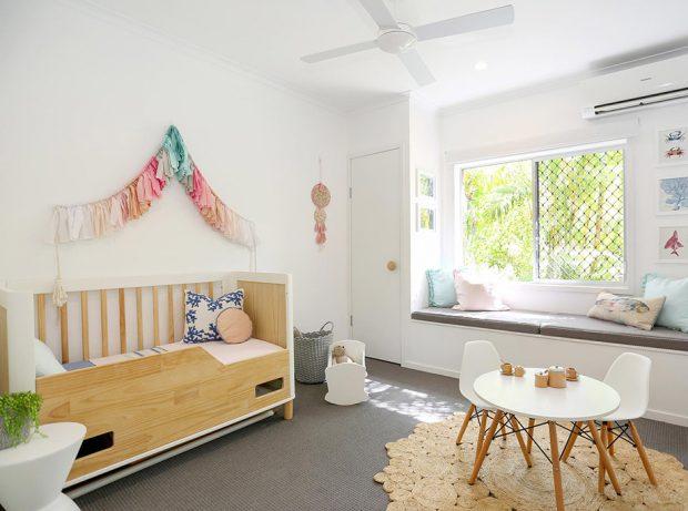 ห้องเด็กน่ารักและสว่าง