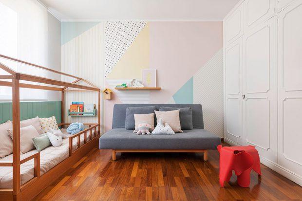 ห้องโทนสีพาสเทล ปูพื้นไม้