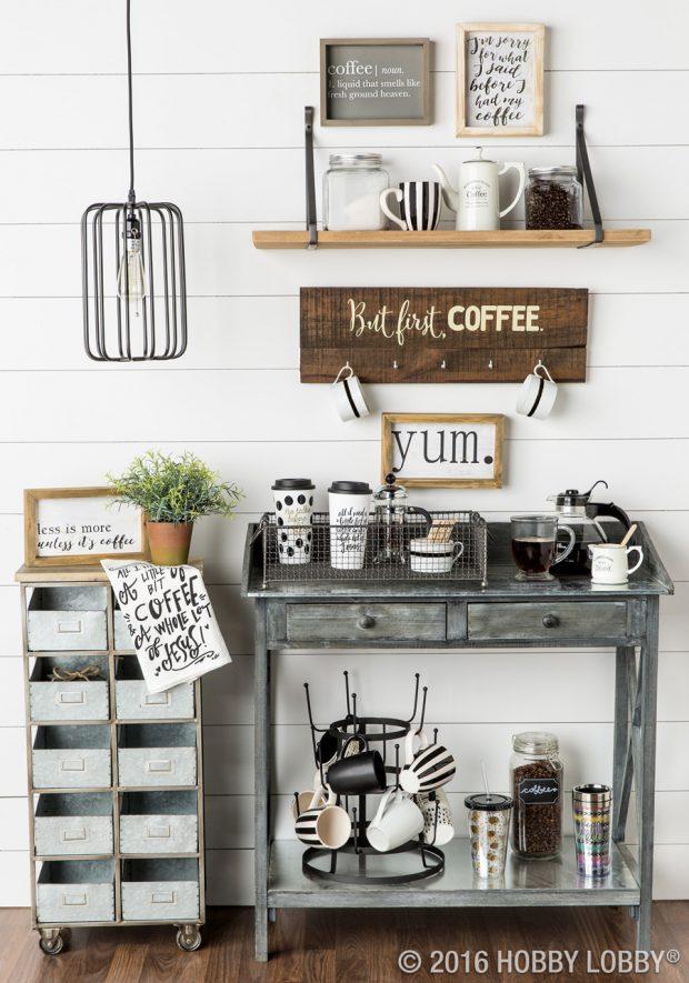 ตกแต่งมุมกาแฟในบ้าน