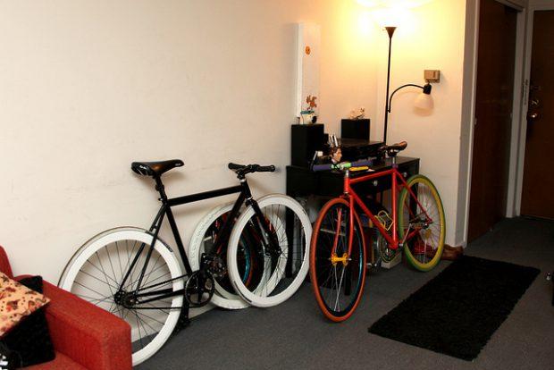 D.I.Y ที่แขวนจักรยานติดผนัง