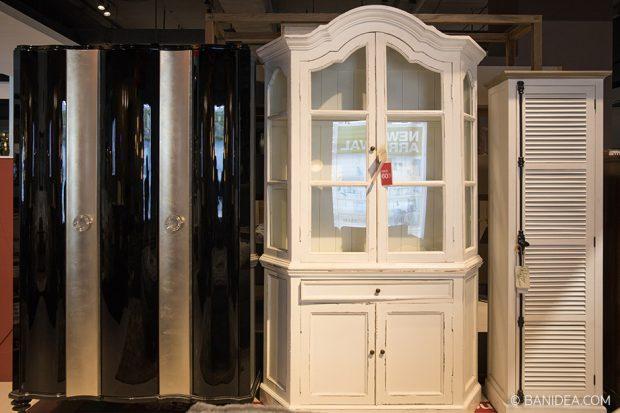ตู้เก็บของ ไม้จริง สีขาว มือสอง