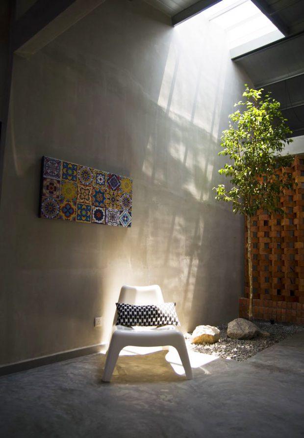 สวนในบ้านติดช่องแสงสกายไลท์