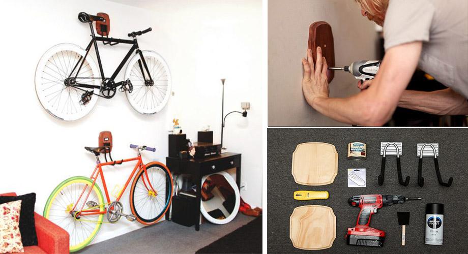 ที่แขวนจักรยานทำเอง
