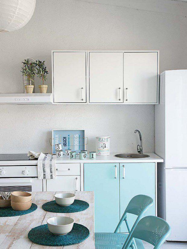 ชุดครัวโทนสีฟ้า-ขาว