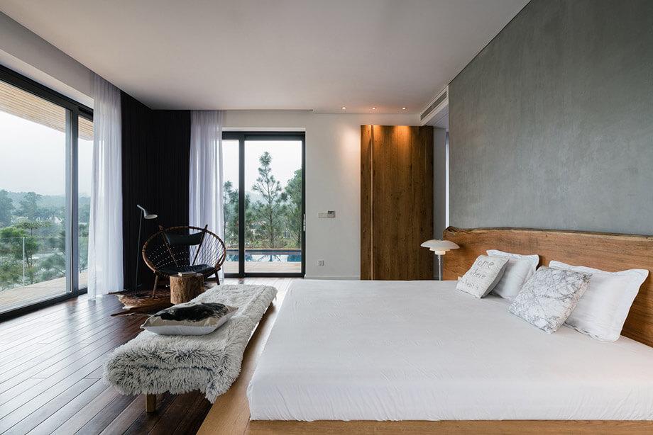 ห้องนอนตกแต่งไม้สัก
