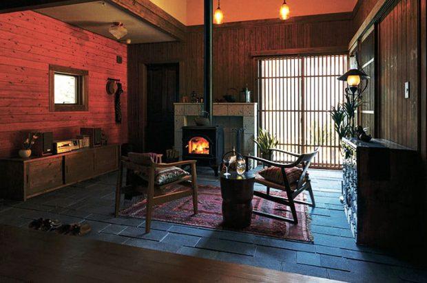 ห้องนั่งเล่นกลิ่นอายญีปุ่น