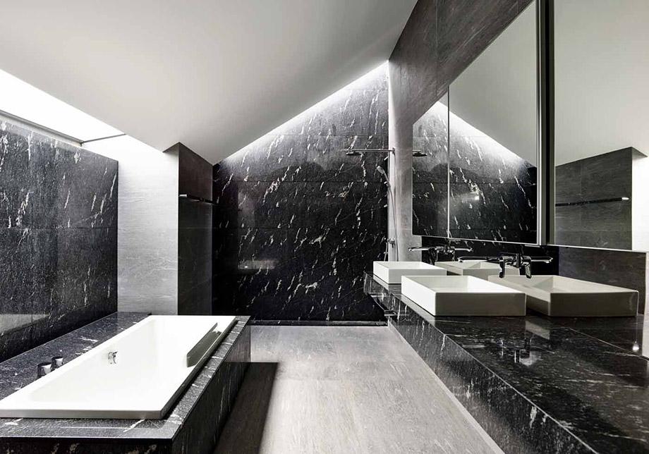 ห้องน้ำโทนสีขาว-ดำ