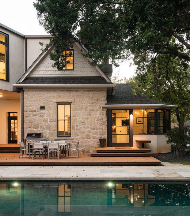 บ้านผนังหินดูเป็นธรรมชาติ